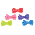 Children's Color Bow Barrettes