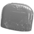 Clear Vinyl Chair Back Cover For Auto Recline Shampoo Chair