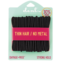 Black Medium Thin Elastics Bonus Size