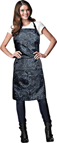Black Damask Stylist Apron