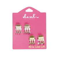 Metallic Satin Finish Small Metal Claw Clips