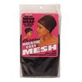 Open Top Mesh Wrap with Velcro Closure Black