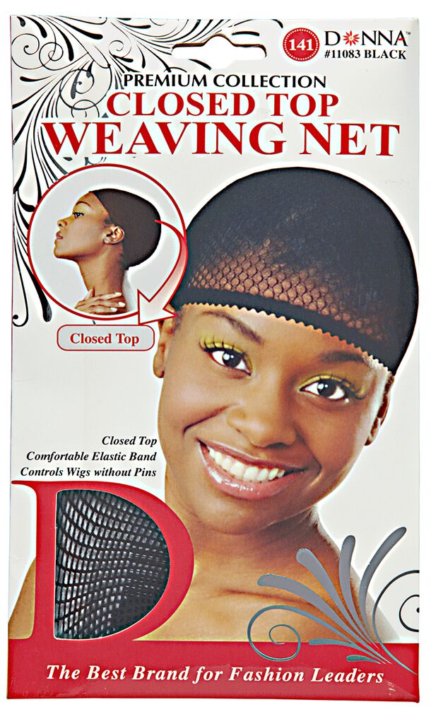 Donna Closed Top Black Weaving Net