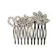 Rhinestone Scroll Comb