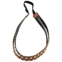 Studded Leather Double Strand Headwrap