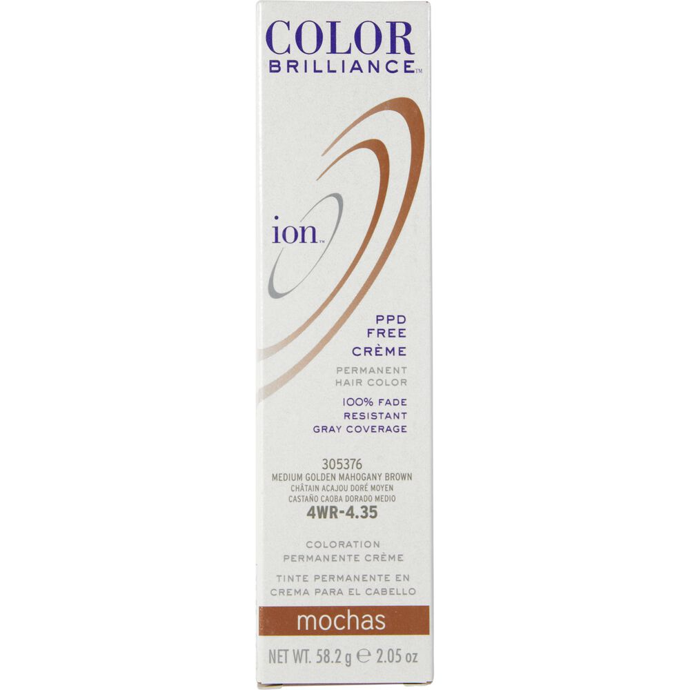 Ion 4wr Medium Gold Mahogany Brown Permanent Creme Hair Color By