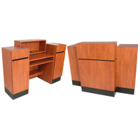Reve Wild Cherry Sitting Reception Desk