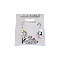 Destine Clear Dangle Earrings