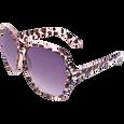 Square Tortoise Crystal Sunglasses
