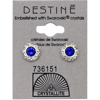 Destine Blue RS Diamond Cut Crystal Earring