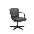 Brown Chromium Shampoo Chair