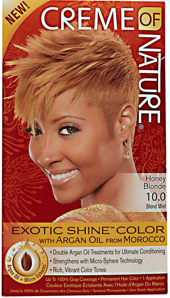 Exotic Shine Honey Blonde Permanent Hair Color By Creme Of Nature