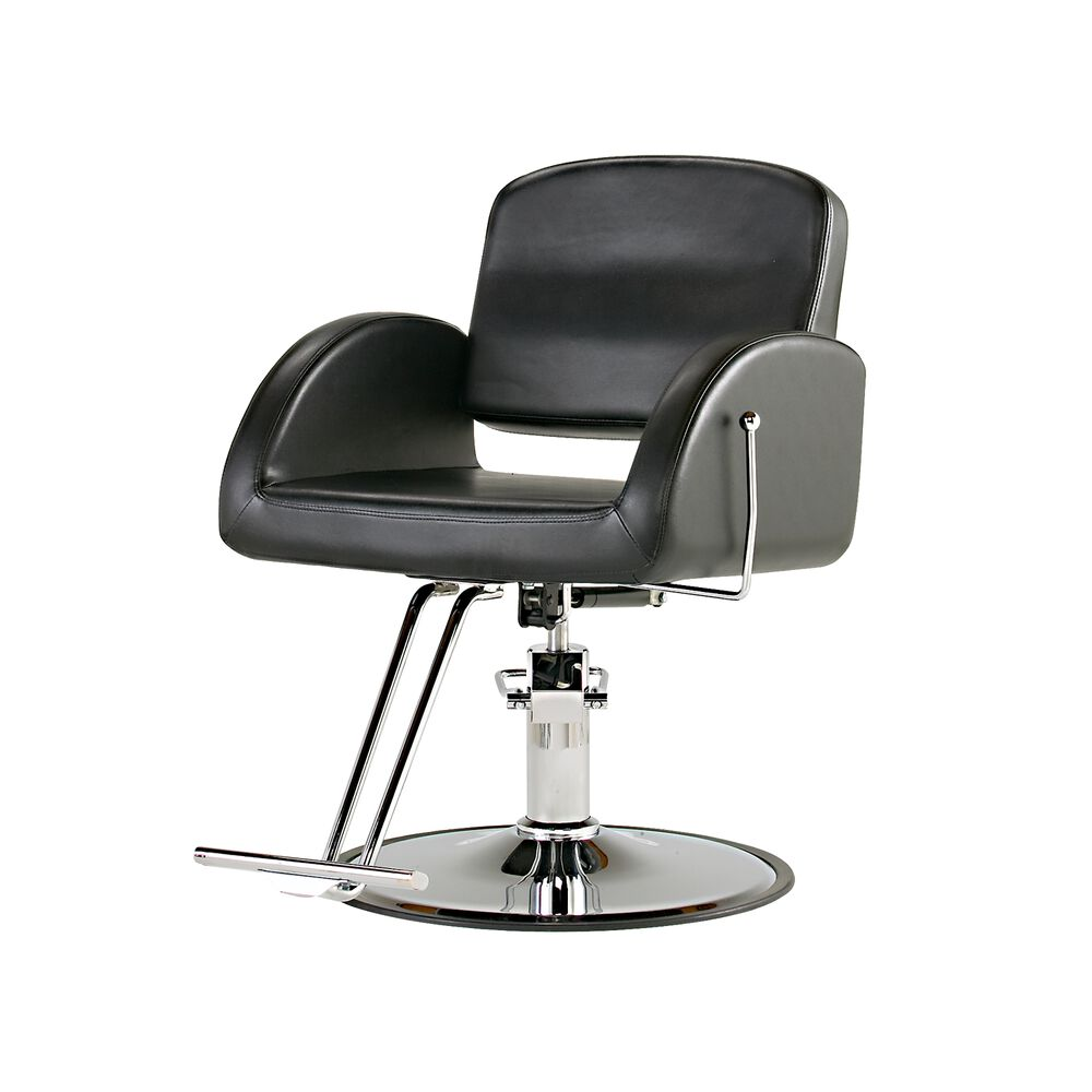 puresana ashley all purpose salon chair with chrome base salon