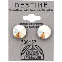 Destine Silk Shimmer Rivoli Crystal Earrings