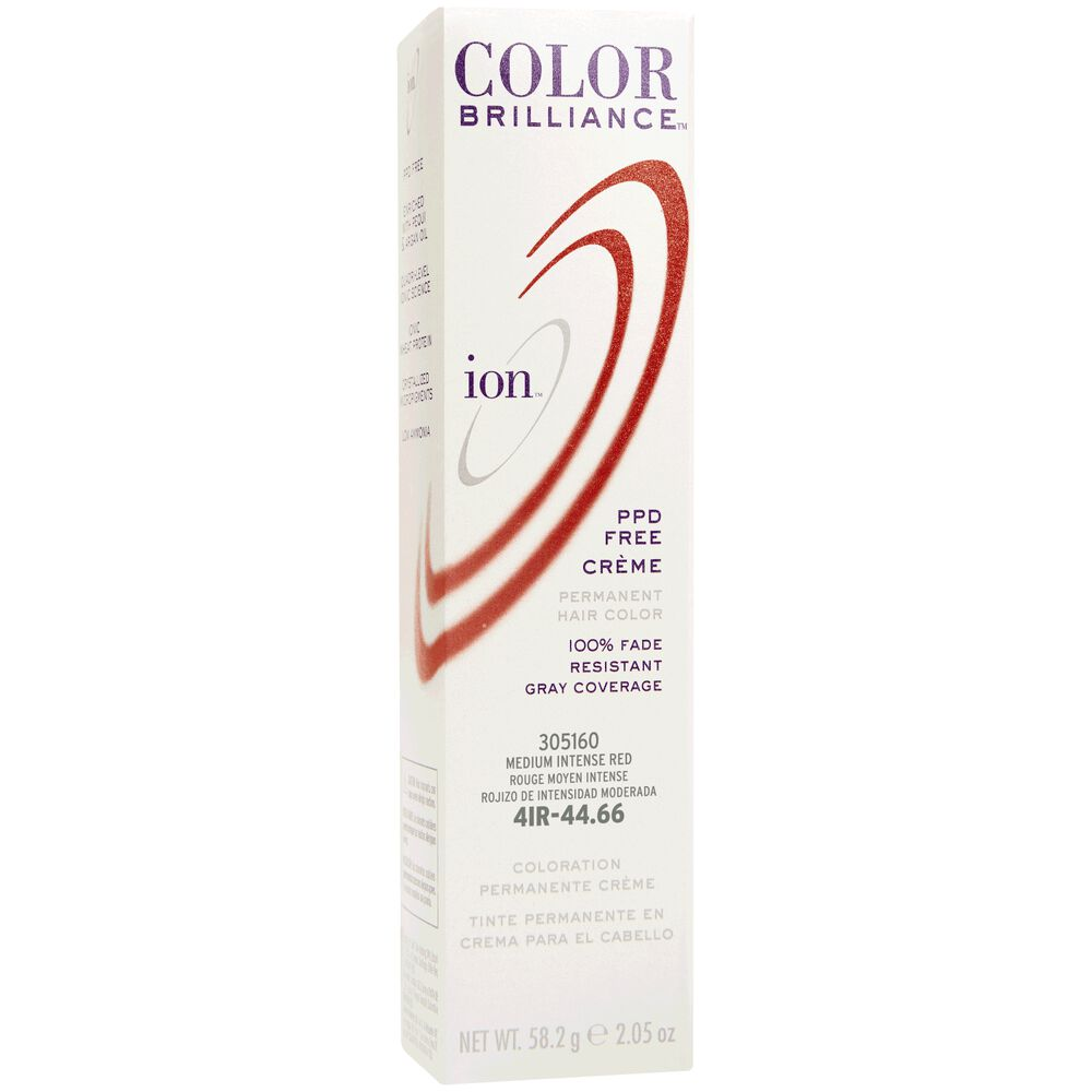 Ion 4ir Medium Intense Red Permanent Creme Hair Color By Color
