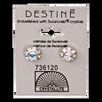 Destine 9mm Diamond Cut Earrings
