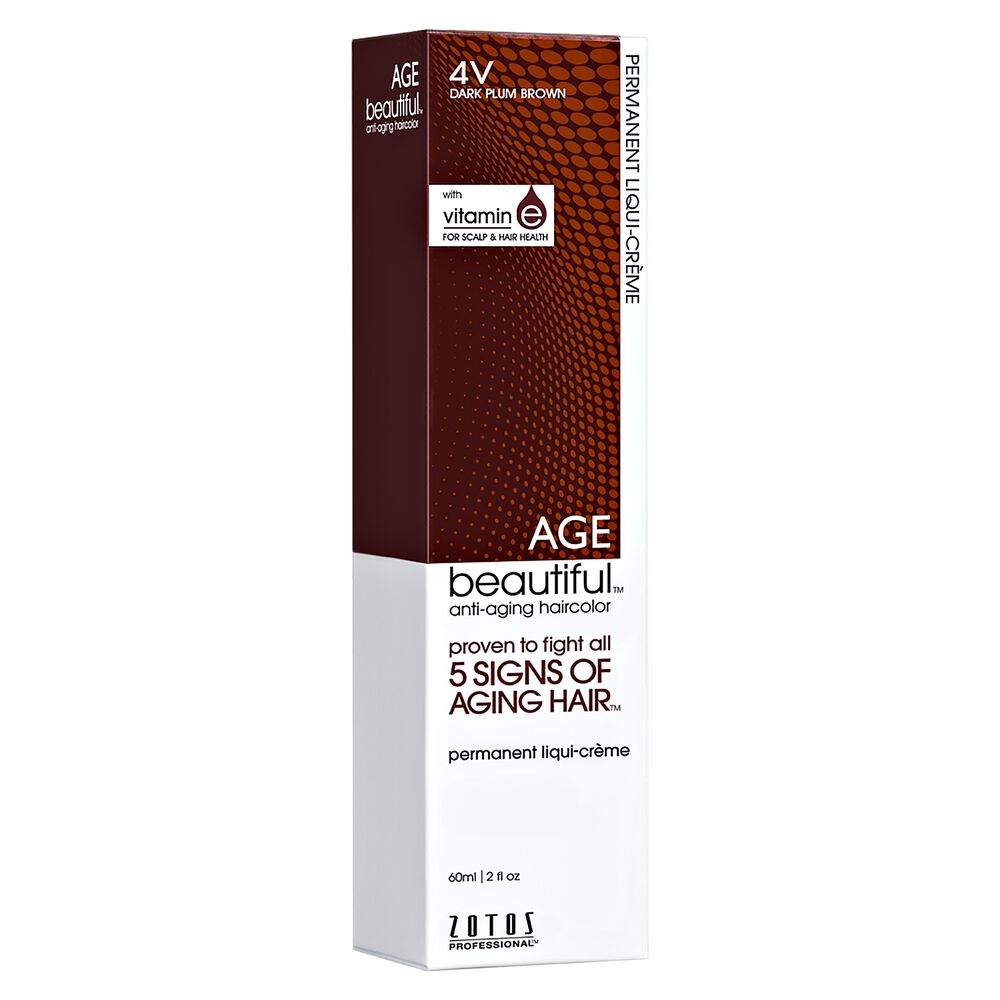 4v Dark Plum Brown Permanent Liqui Creme Hair Color By Agebeautiful