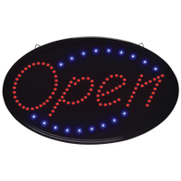 Oval Open LED Sign