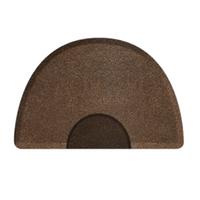 3 X 4.5 Granite Copper Round Mat with Chair Depression