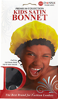 Kids Black Satin Bonnet
