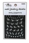 Diamonds and Daisies Rhinestones Nail Art Jewelry Decals