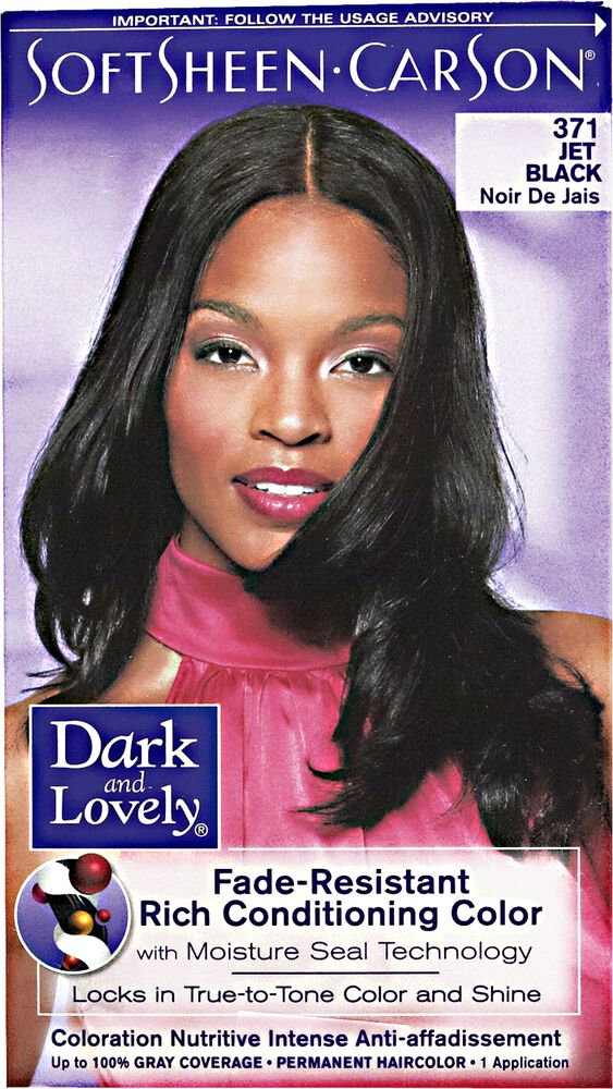 Fade Resistant Jet Black Permanent Hair Color By Dark Lovely