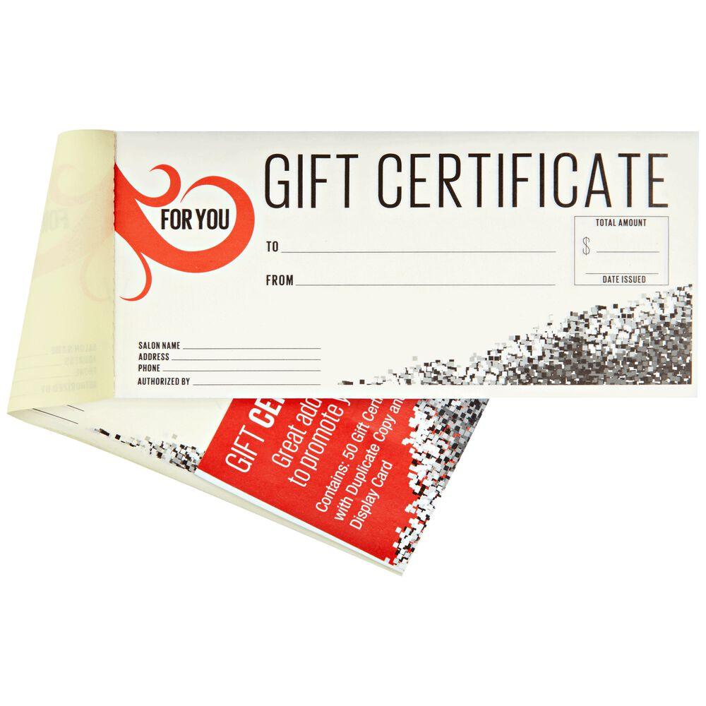 Salon Care Gift Certificates