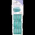 Aqua & Silver 2 Inch Gentle Style Self Grip Rollers 4 Pack