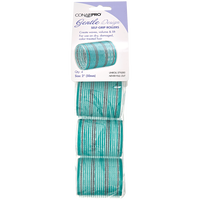 Aqua & Silver 2 Inch Gentle Style Self Grip Rollers 4 Pack