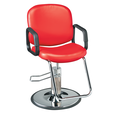 Pibbs Chameleon Red Styling Chair with Chrome Base
