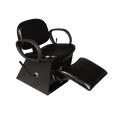 Contour Shampoo Chair with Legrest Black