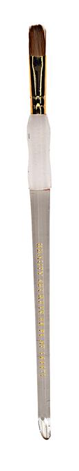 #8 Flat Kolinski Nail Brush