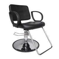 Hannah Styling Chair with Chrome Base