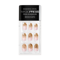 Dashing Diva Magic Press on Nails Golden Radiance