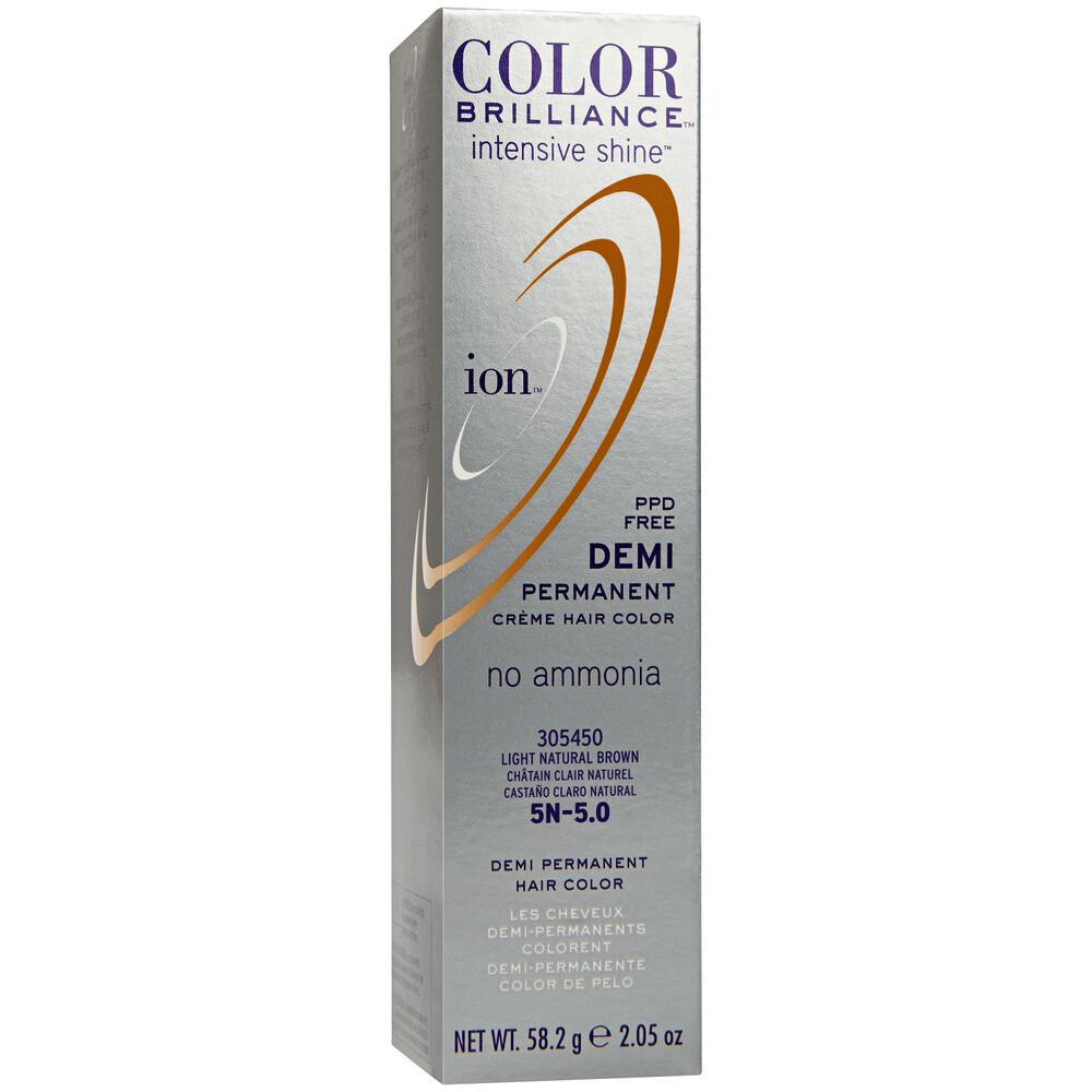 Light Natural Brown Ion Color Brilliance Demi Permanent Creme Hair