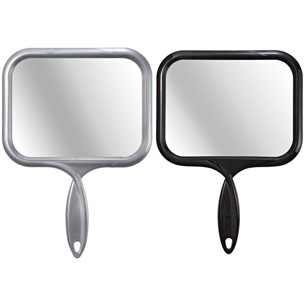 Salon care large rectangular hand mirror for Mirror large