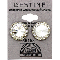 Destine Clear RS Rivoli Crystal Earring
