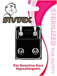 Cubic Zirconia Sterilized Piercing Earrings Stainless Steel