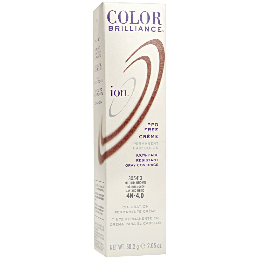 Ion 4n Medium Brown Permanent Creme Hair Color By Color Brilliance