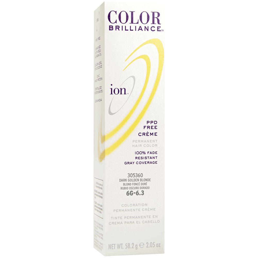 Ion 6g Golden Blonde Permanent Creme Hair Color By Color Brilliance