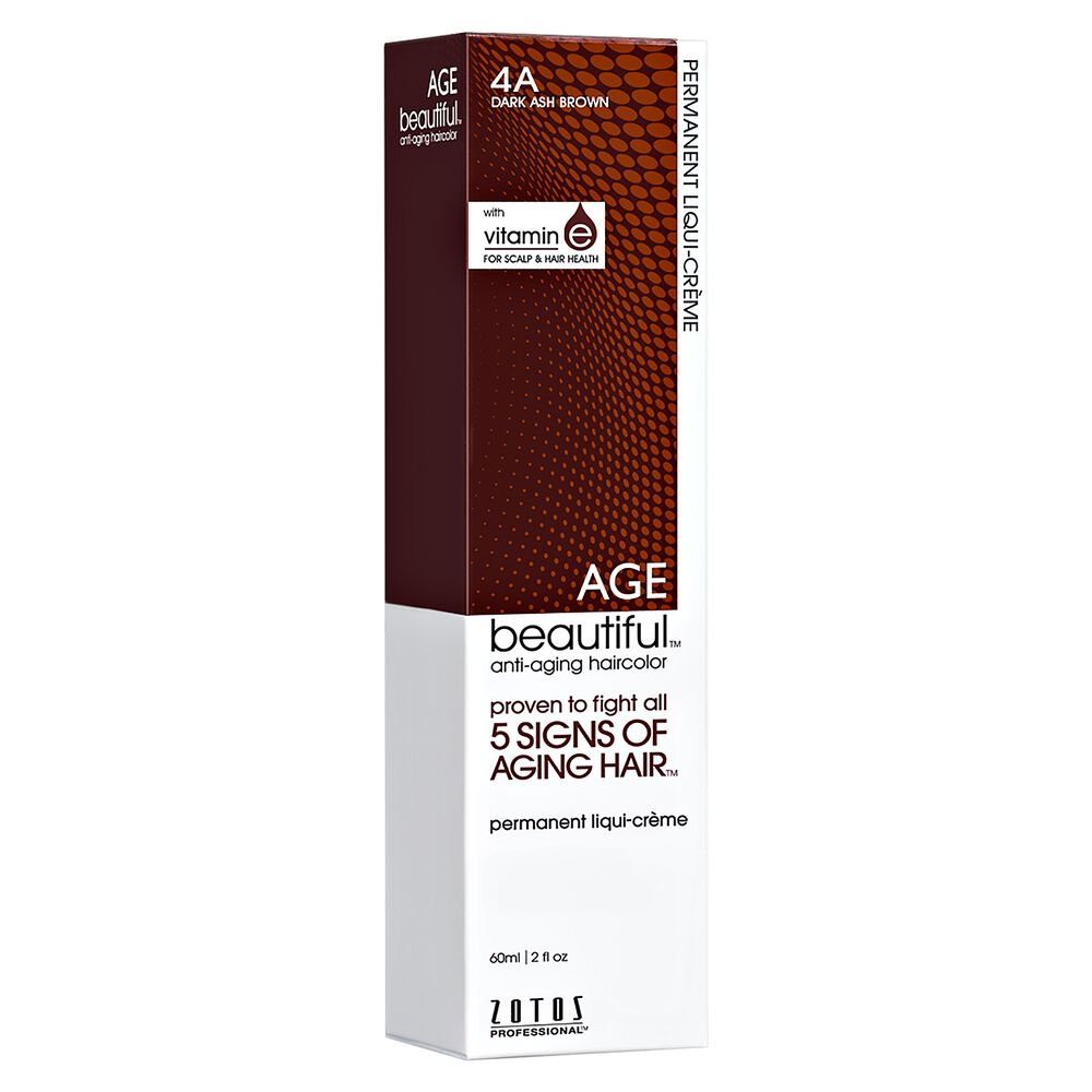 4a Dark Ash Brown Permanent Liqui Creme Hair Color By Agebeautiful