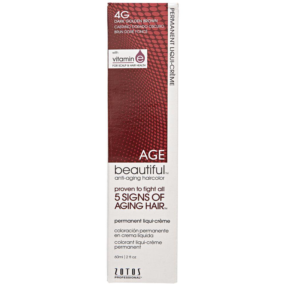 4g Dark Golden Brown Permanent Liqui Creme Hair Color By