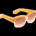 Plastic Two Tone Tan Fashion Sunglasses