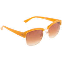 Plastic Two Tone Tan Fashion Sunglasses
