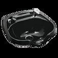 Black Oval ABS Plastic Shampoo Bowl