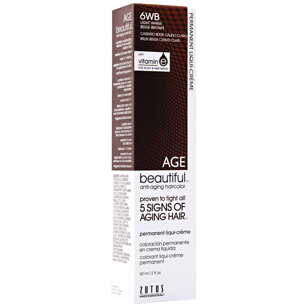 6wb Light Warm Beige Brown Liqui Permanent Haircolor By Agebeautiful