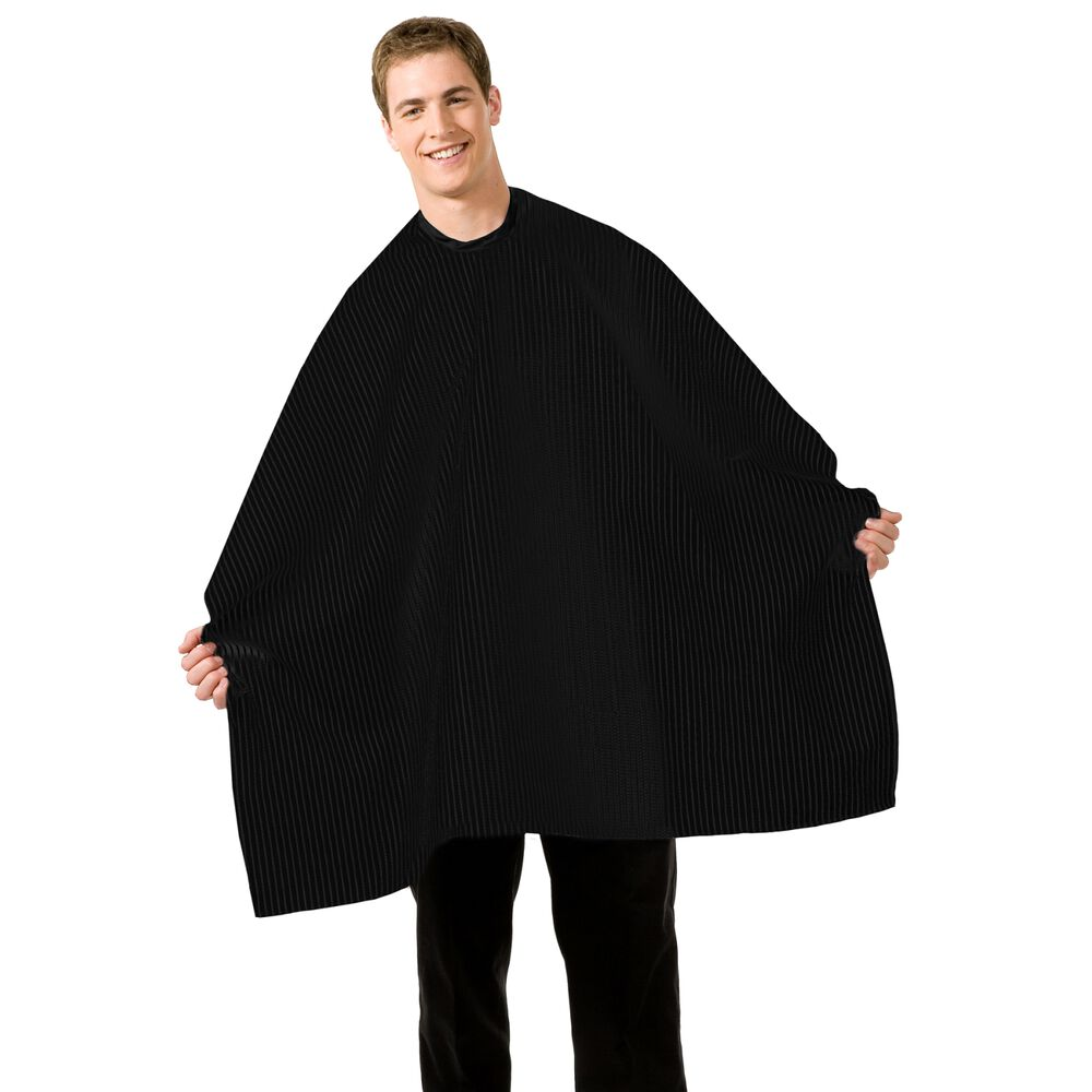 Betty Dain Seersucker Barber Cape Black