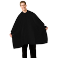 Black Seersucker Barber Cape