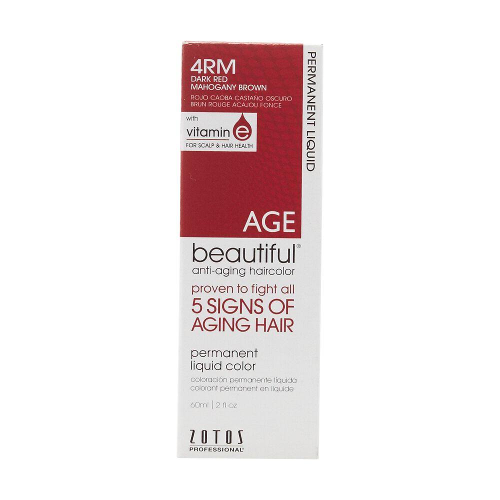 Anti Aging 4rm Dark Red Mahogany Brown Permanent Liquid Hair Color
