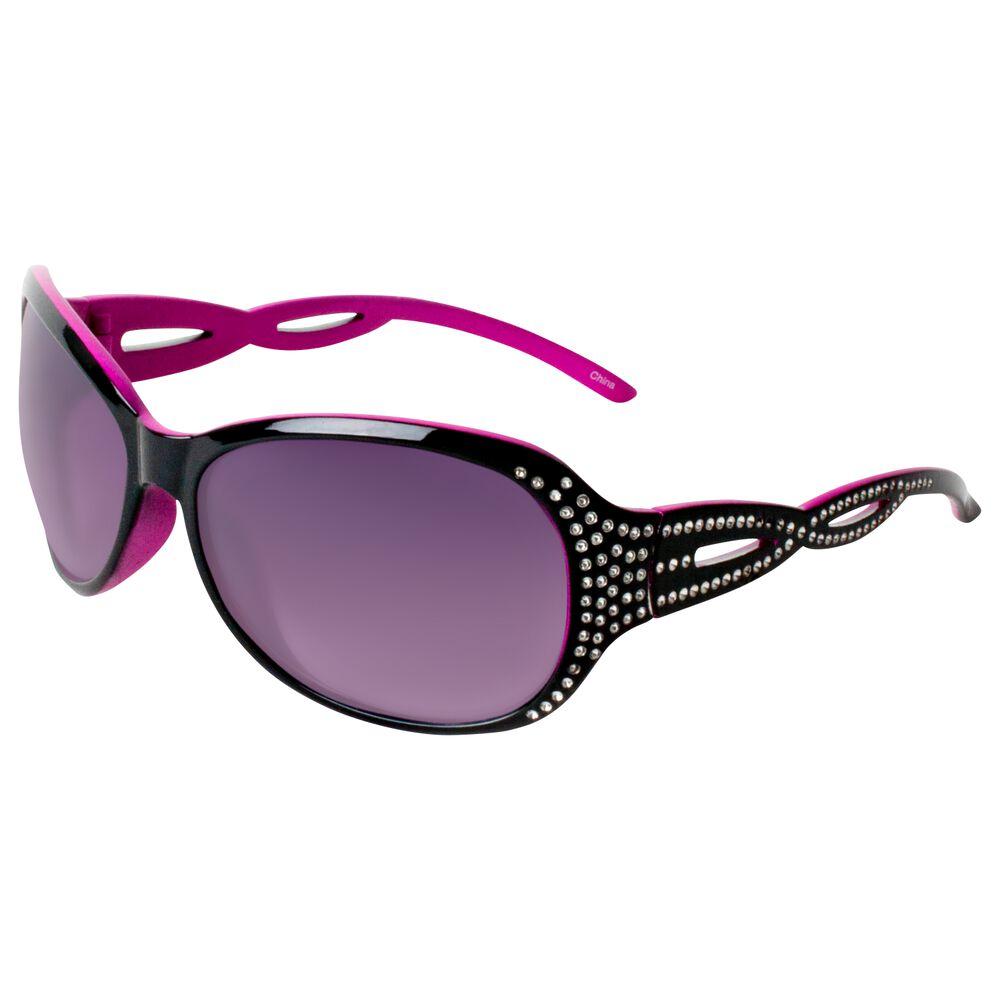 65cadbf7cc Icon Plastic Black   Pink Round Sunglasses
